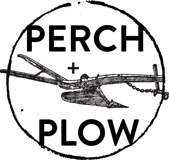 Perch + Plow full black logo