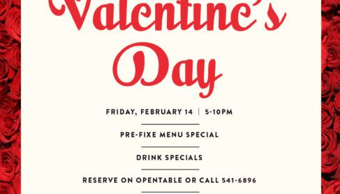 valentine's day graphic for perch and plow dinner event